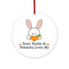 Some Bunny In Nebraska Loves Me Ornament (Round)