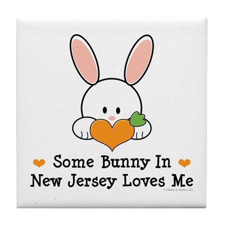 Some Bunny In New Jersey Tile Coaster