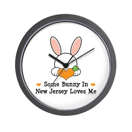 Some Bunny In New Jersey Wall Clock