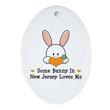 Some Bunny In New Jersey Ornament (Oval)