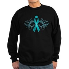 Teal Ribbon Sweater