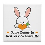 Some Bunny In New Mexico Tile Coaster