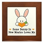 Some Bunny In New Mexico Framed Tile