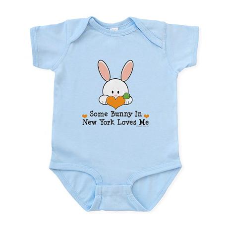 Some Bunny In New York Loves Me Infant Bodysuit