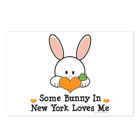 Some Bunny In New York Loves Me Postcards (Package