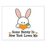 Some Bunny In New York Loves Me Small Poster