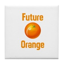 Future Orange Tile Coaster
