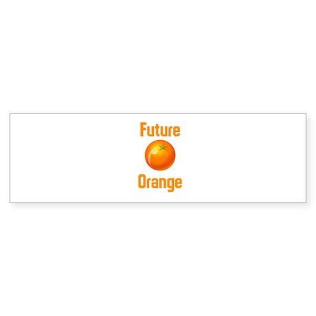 Future Orange Sticker (Bumper)