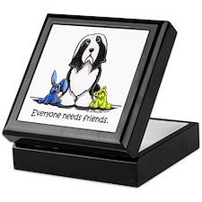 Beardie Needs Friends Keepsake Box