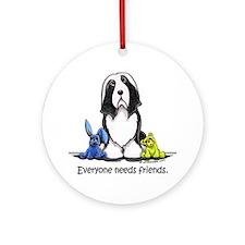 Beardie Needs Friends Ornament (Round)