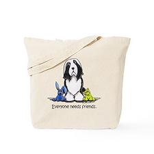 Beardie Needs Friends Tote Bag