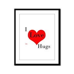 I Love Hugs Framed Panel Print
