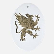 Gryphon Ornament (Oval)