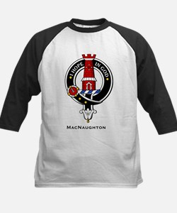 MacNaughton Clan Crest Badge Kids Baseball Jersey