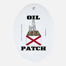 Alabama Oil Patch Ornament (Oval),Oil,Gas