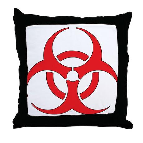 Biohazzard Throw Pillow