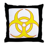 Biohazzard Throw Pillow