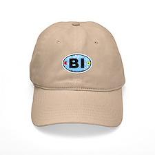 Block Island RI - Oval Design. Cap