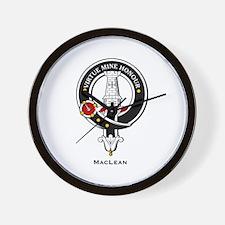 MacLean Clan Crest Badge Wall Clock