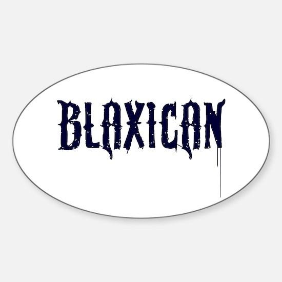 Funny Biracial Sticker (Oval)