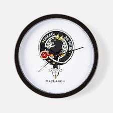 MacLaren Clan Crest Badge Wall Clock
