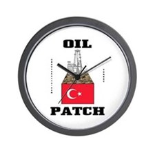 Tunisian Oil Patch Wall Clock,Oil,Gas,Rig,Gift