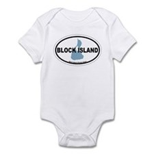 Block Island RI - Oval Design. Infant Bodysuit