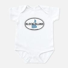 Block Island RI - Oval Design. Infant Bodysuit