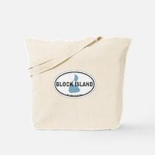 Block Island RI - Oval Design. Tote Bag