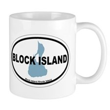 Block Island RI - Oval Design. Mug