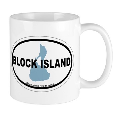 Block Island RI - Oval Design. Mug
