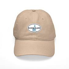 Block Island RI - Oval Design. Baseball Cap