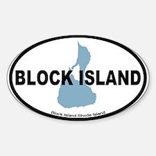 Block Island RI - Oval Design. Decal