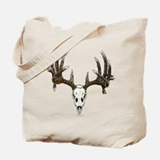 whitetail skull Tote Bag