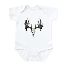 whitetail skull Infant Bodysuit