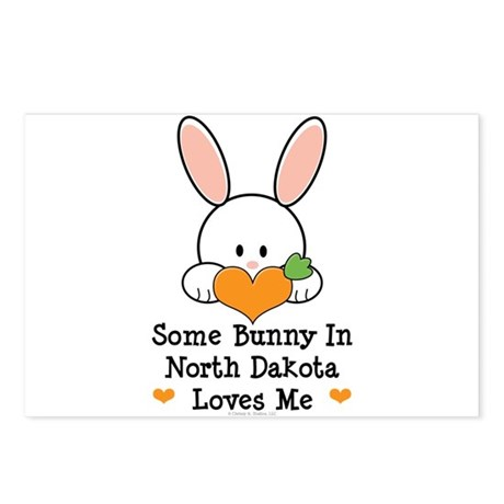 Some Bunny In North Dakota Postcards (Package of 8
