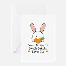 Some Bunny In North Dakota Greeting Card