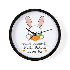 Some Bunny In North Dakota Wall Clock