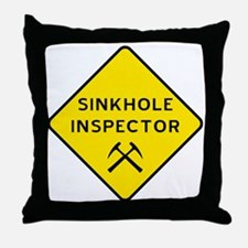 Sinkhole Inspector Throw Pillow
