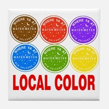 Local Color Water Meters Tile Coaster