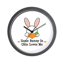 Some Bunny In Ohio Loves Me Wall Clock