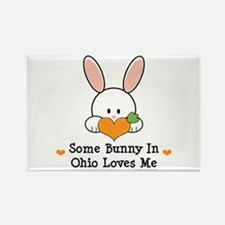 Some Bunny In Ohio Loves Me Rectangle Magnet