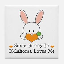 Some Bunny In Oklahoma Loves Me Tile Coaster
