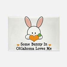 Some Bunny In Oklahoma Loves Me Rectangle Magnet