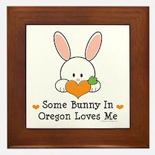Some Bunny In Oregon Loves Me Framed Tile
