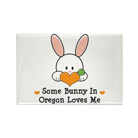 Some Bunny In Oregon Loves Me Rectangle Magnet (10