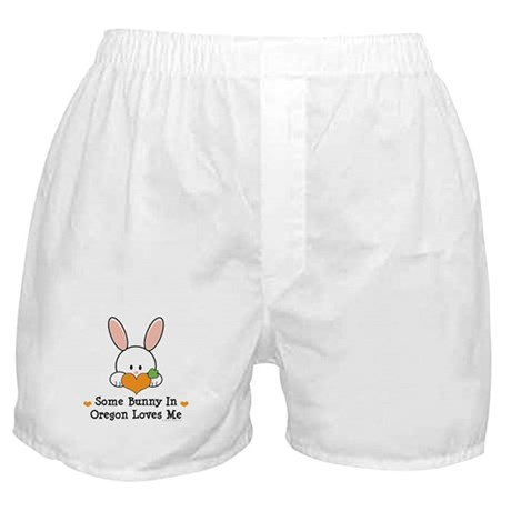 Some Bunny In Oregon Loves Me Boxer Shorts