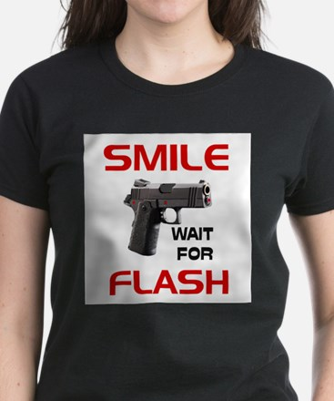 ARMED AND READY -- Women's Dark T-Shirt