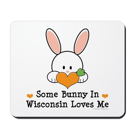 Some Bunny In Wisconsin Mousepad
