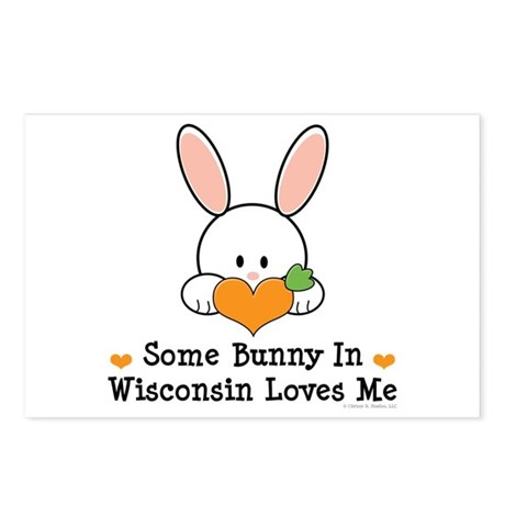 Some Bunny In Wisconsin Postcards (Package of 8)